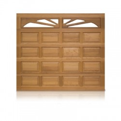 Puerta insulada de madera