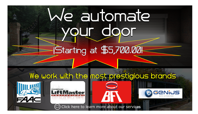 We automate your doors